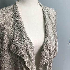 PrAna   Lightweight Waterfall Front Gray Sweater